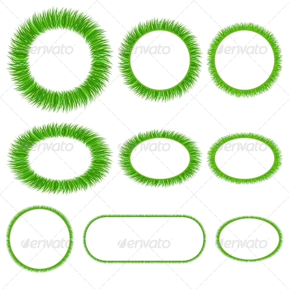 GraphicRiver Set of Grass Frameworks 4622585