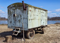 Car trailer kung in a vacant lot - PhotoDune Item for Sale