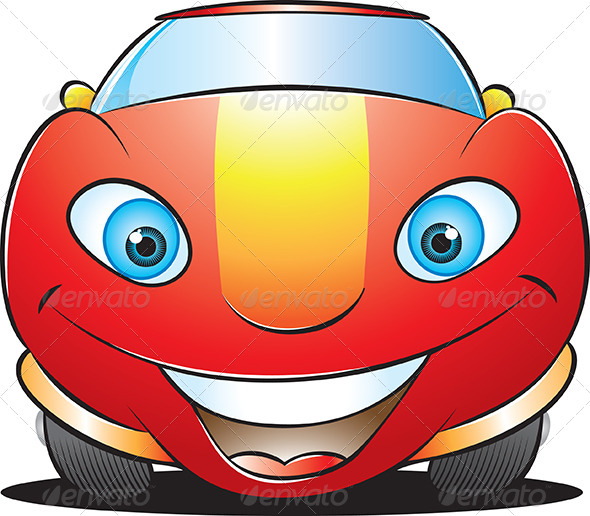Happy Car Mascot