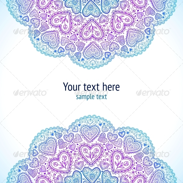 GraphicRiver Ornamental Round Hearts Pattern in Indian Style 4622651
