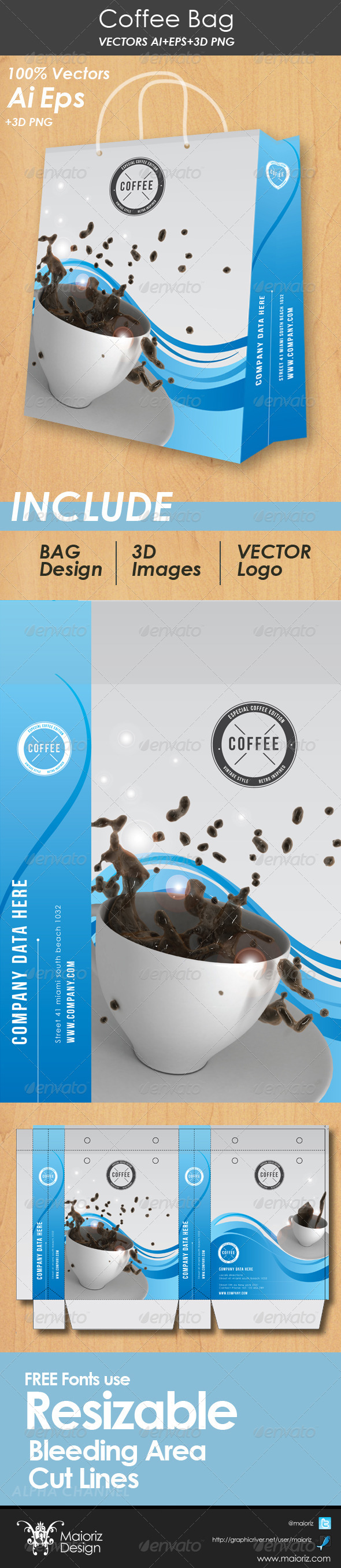GraphicRiver Coffee Bag Packaging 4558200