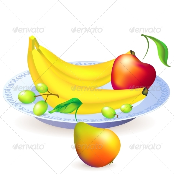 GraphicRiver Plate of Fruits Vector Illustration 4622657