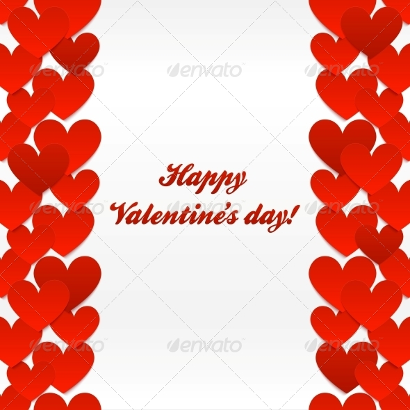 GraphicRiver Red Hearts Valentines Day Greeting Card 4622686
