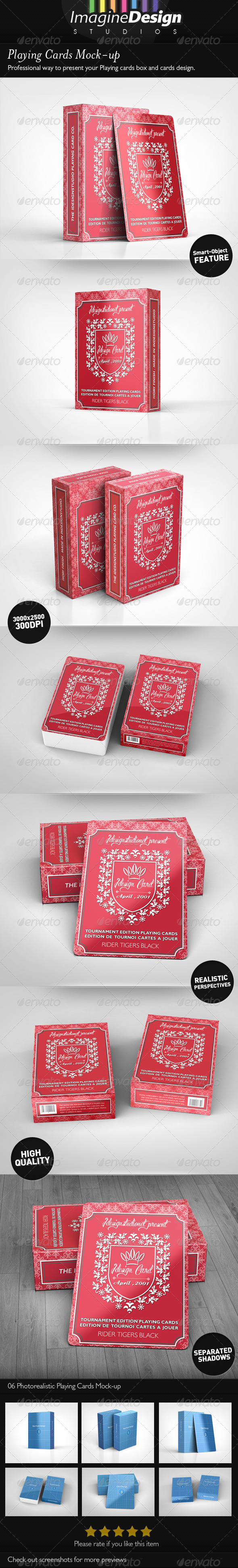 GraphicRiver Playing Cards Mock-up 4622981