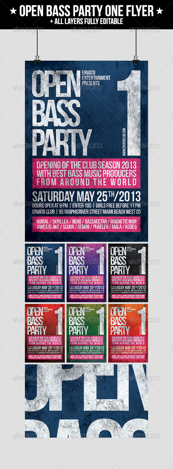 GraphicRiver Open Bass Party One Flyer 4623063