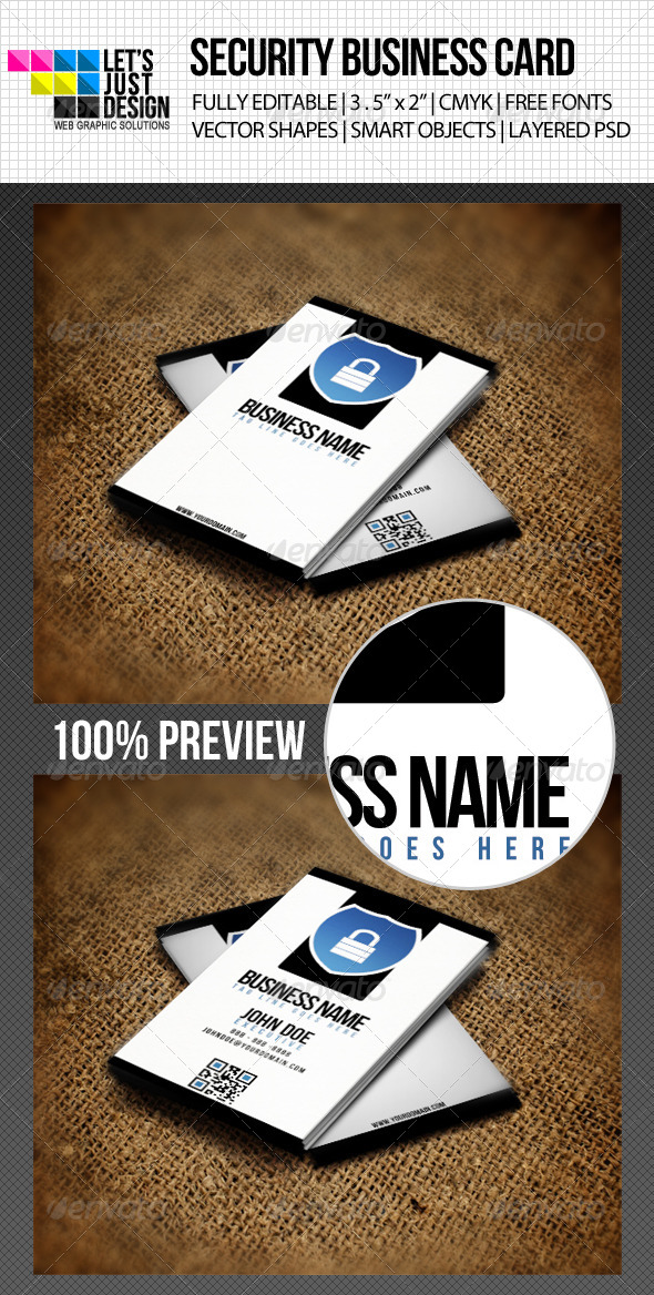 GraphicRiver Minimal Security Business Card 4623409