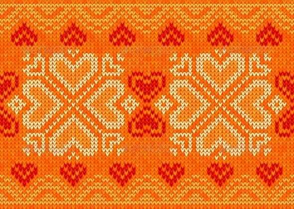 GraphicRiver Valentines Day Hearts Ornamental Embroidery 4623612