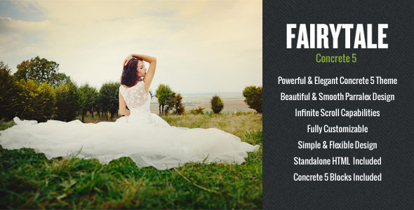 ThemeForest FAIRYTALE Fullscreen Concrete 5 Theme 4623793