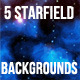 5 Starfield Backgrounds - GraphicRiver Item for Sale