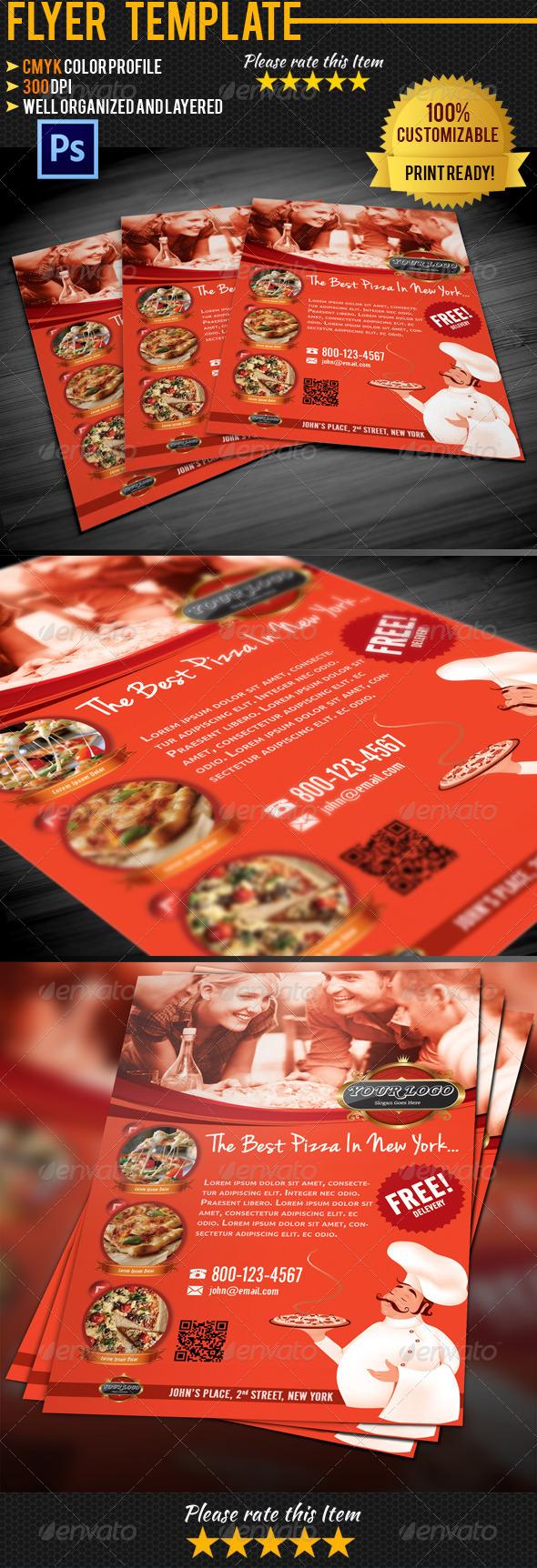 GraphicRiver Pizza Flyer Template 4550148