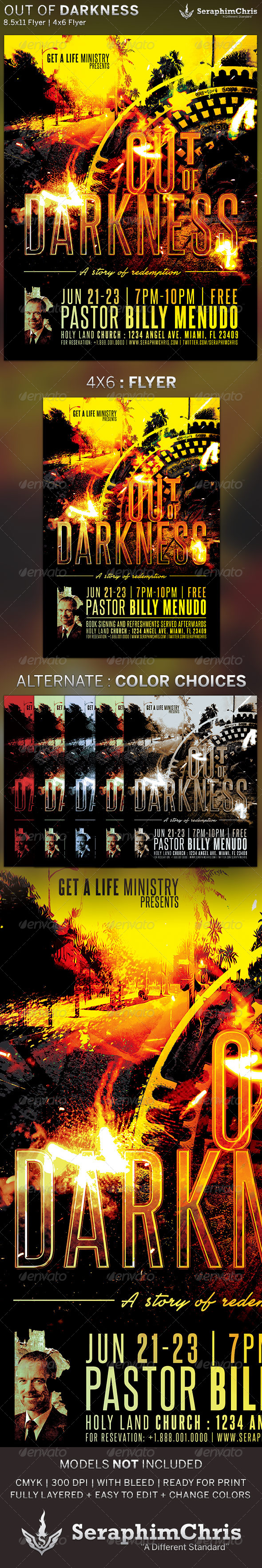 Out of Darkness: Church Flyer Template - Church Flyers