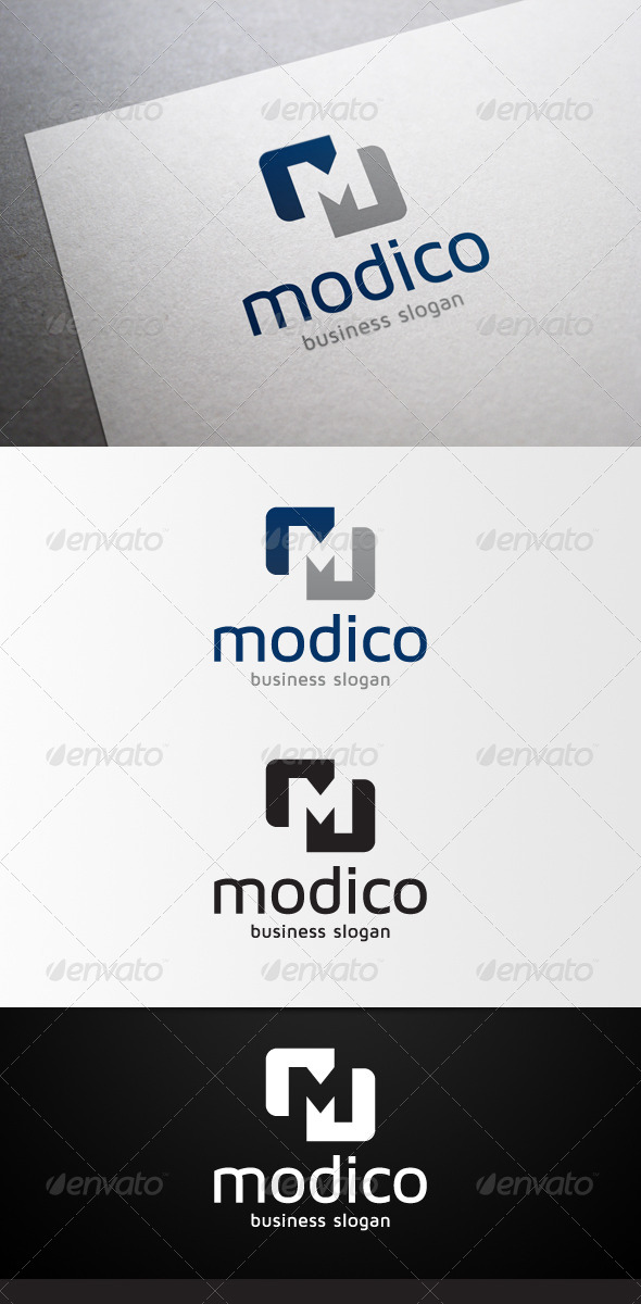 GraphicRiver Modico M Letter Logo 4613594