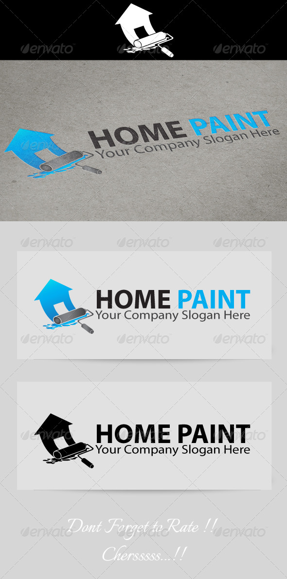 Home Paint Logo  - Buildings Logo Templates