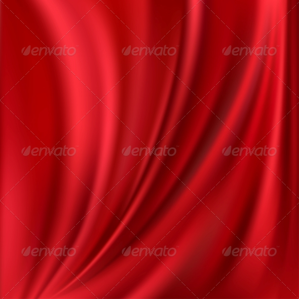 GraphicRiver Abstract Vector Texture Red Silk 4624554