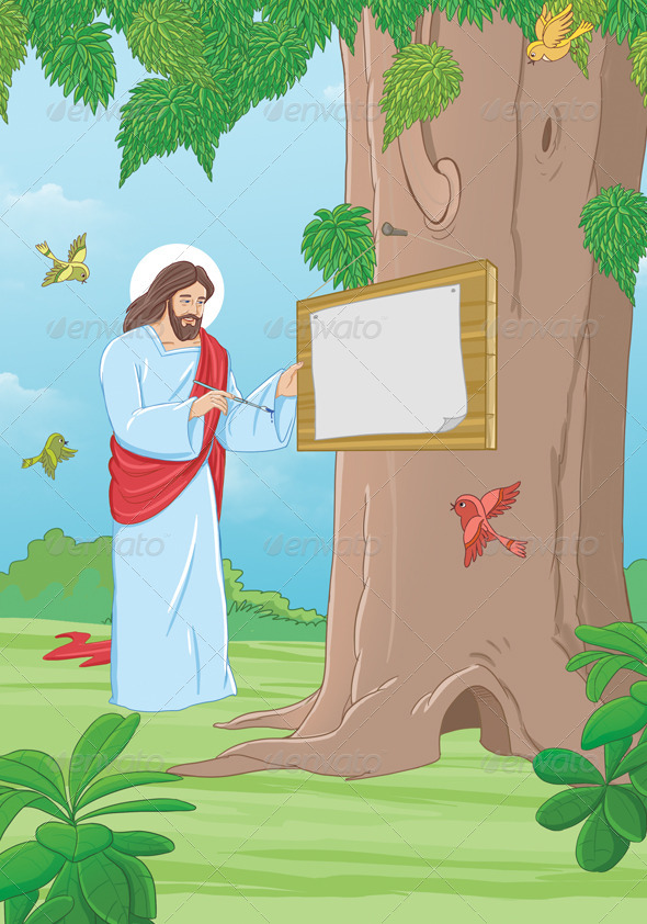 Jesus Scene - Scenes Illustrations