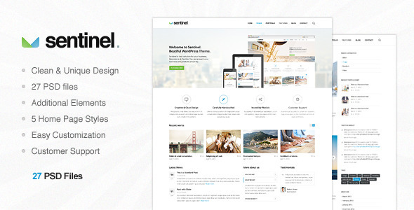 Sentinel - Multi Purpose PSD Template - Creative PSD Templates
