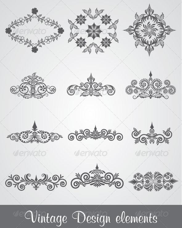 GraphicRiver Vintage Design Elements 4624807