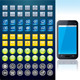Smartphone with Set of Various Interface Buttons - GraphicRiver Item for Sale