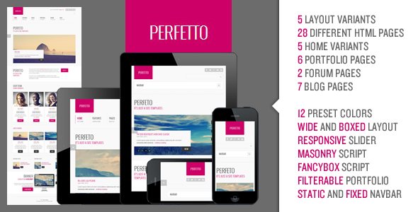 ThemeForest Perfetto Responsive Bootstrap Template 4612003