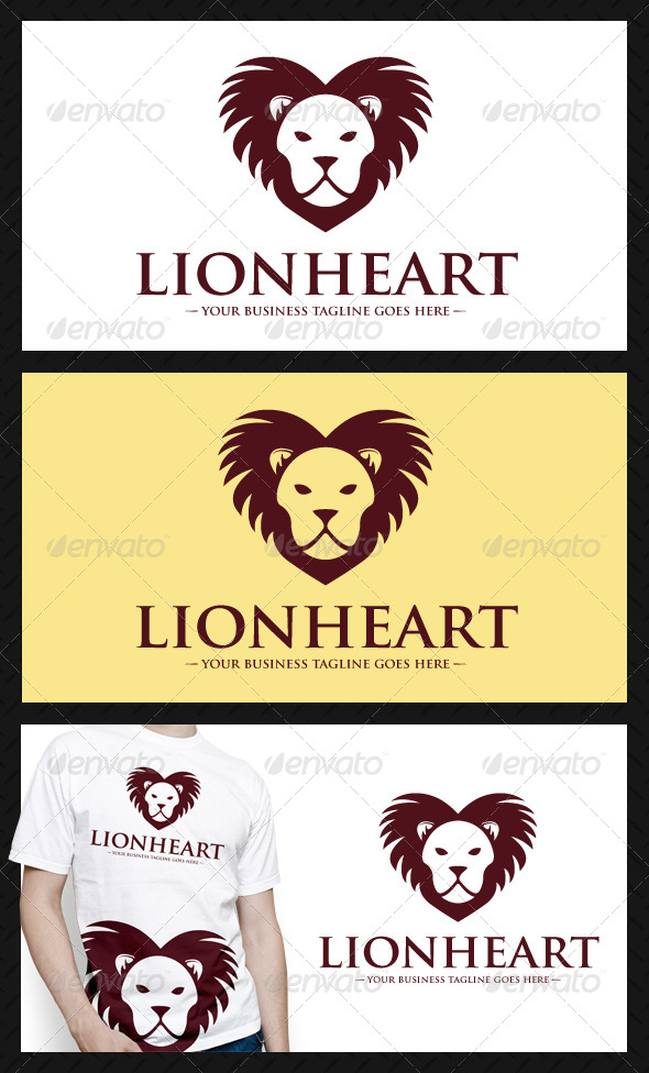 GraphicRiver Lion Heart Logo Template 4625328