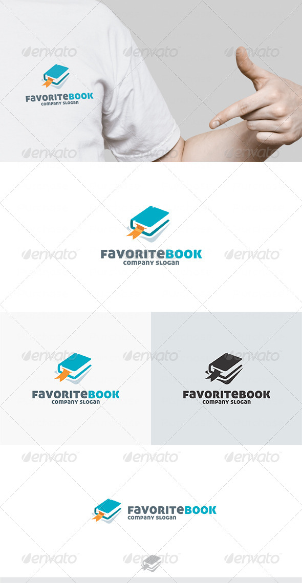 GraphicRiver Favorite Book Logo 4623412