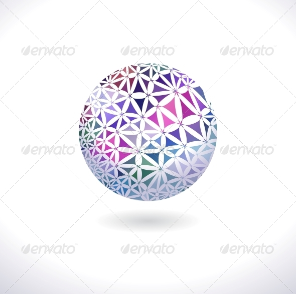 GraphicRiver Prismatic Faceted Sphere 4625474