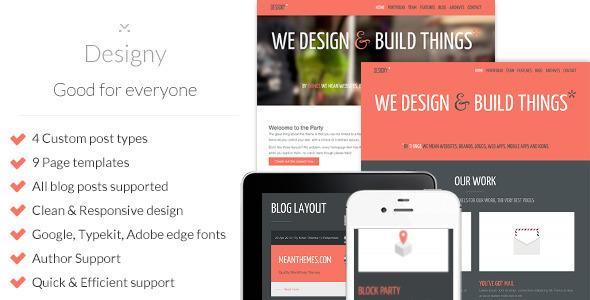ThemeForest Designy A design led Business WordPress theme 4625484