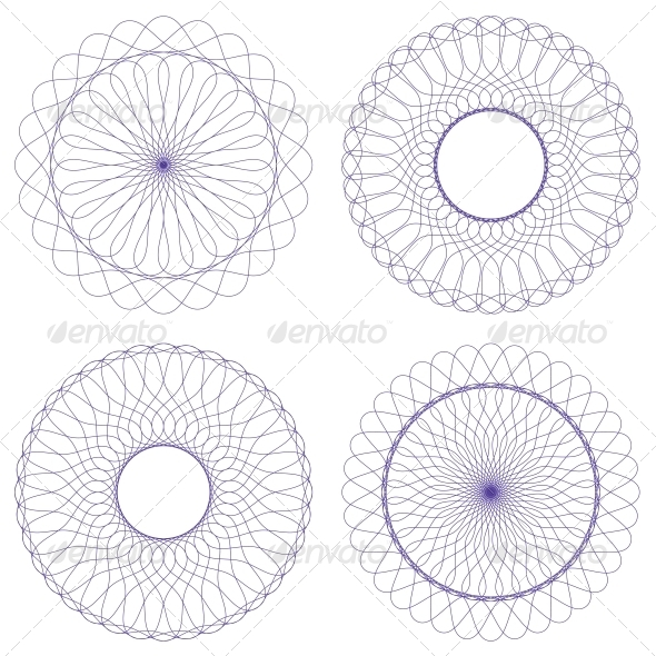 GraphicRiver Set of Vector Guilloche Rosettes 4625516