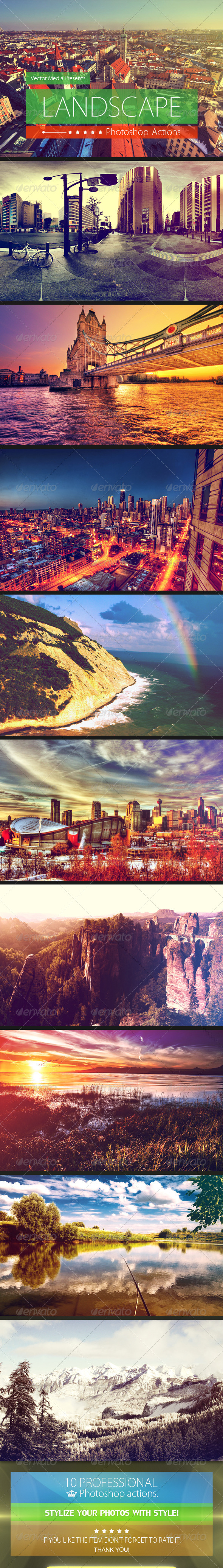 Landscape - Photoshop Actions - Photo Effects Actions