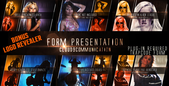 After Effects Project - VideoHive Form Presentation with Bonus Logo Formation 483274