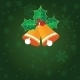 Christmas Background with Holly Berry Leaves - GraphicRiver Item for Sale