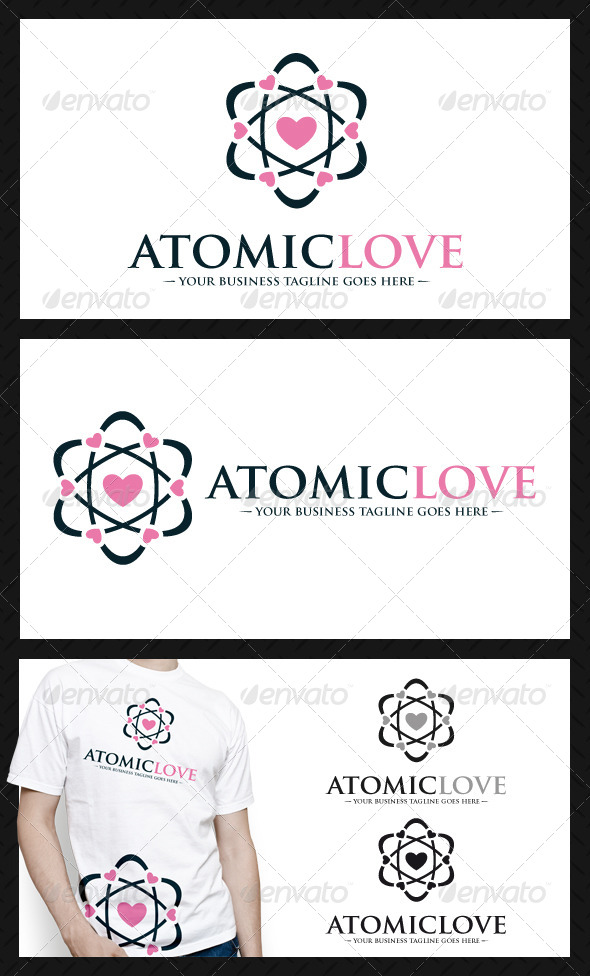 GraphicRiver Atomic Love Logo Template 4625599