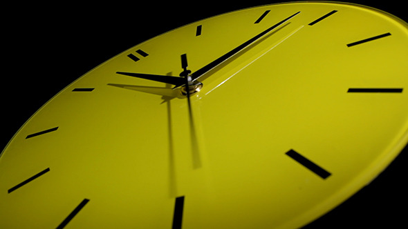 Yellow Clock Time Lapse