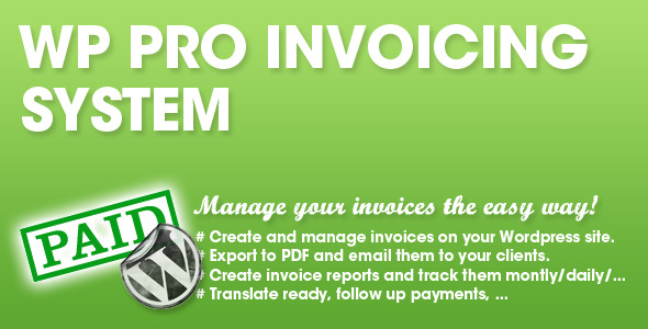 CodeCanyon WP PRO Invoicing System 4625730