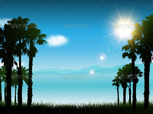 GraphicRiver Tropical Landscape 4626399