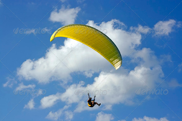 Stock Photo - PhotoDune yellow paraglide 483443