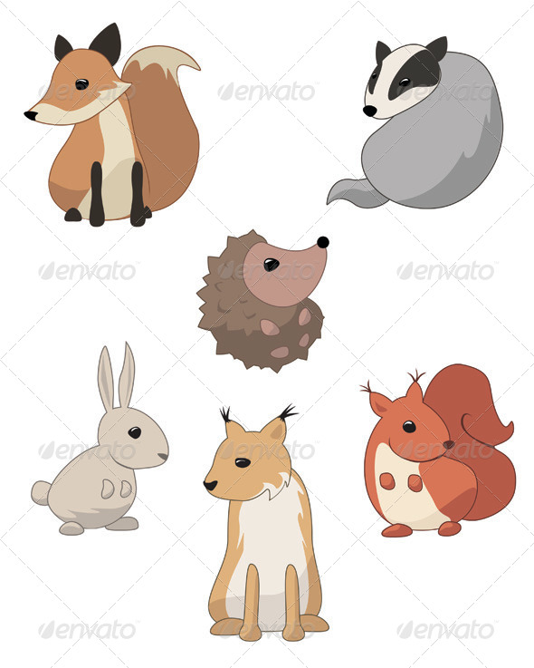 GraphicRiver Forest Animals 4605322