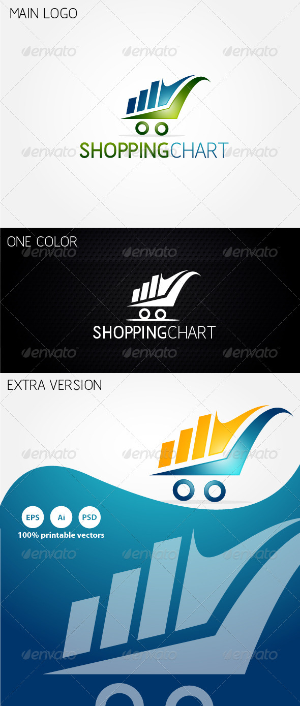 GraphicRiver Shopping Chart Logo 4626576
