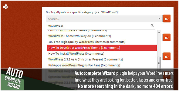 CodeCanyon Autocomplete Wizard 4627138