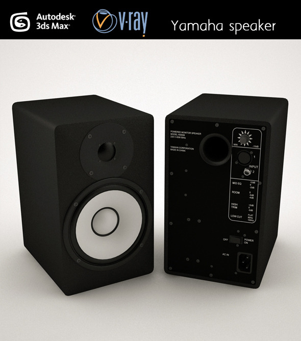Yamaha speaker - 3DOcean Item for Sale