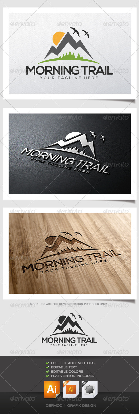 GraphicRiver Morning Trail Logo 4627784