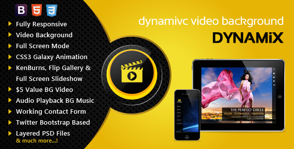 ThemeForest Dynamix Responsive Full Screen Background Theme 4114695