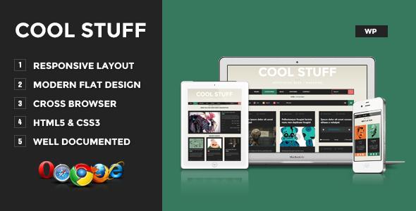 ThemeForest Cool Stuff WordPress Responsive Blog Magazine 4627928