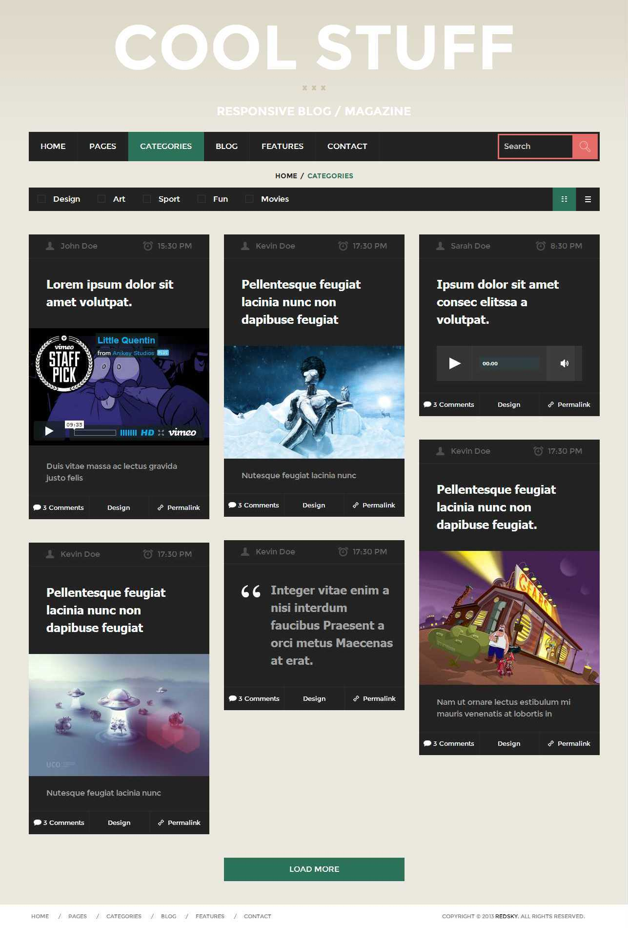 Cool Stuff - WordPress Responsive Blog/Magazine