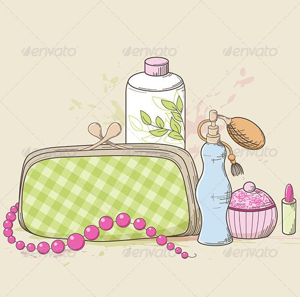 GraphicRiver Handbag and Cosmetics 4628032