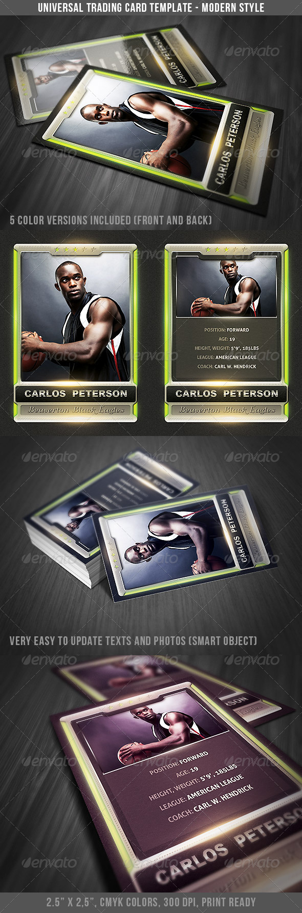 Universal Sport Trading Card 2 - Miscellaneous Print Templates