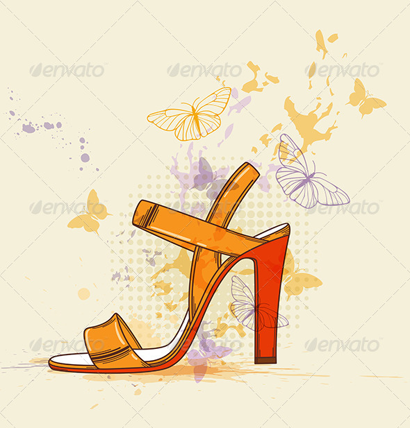 GraphicRiver Orange Shoe 4628046