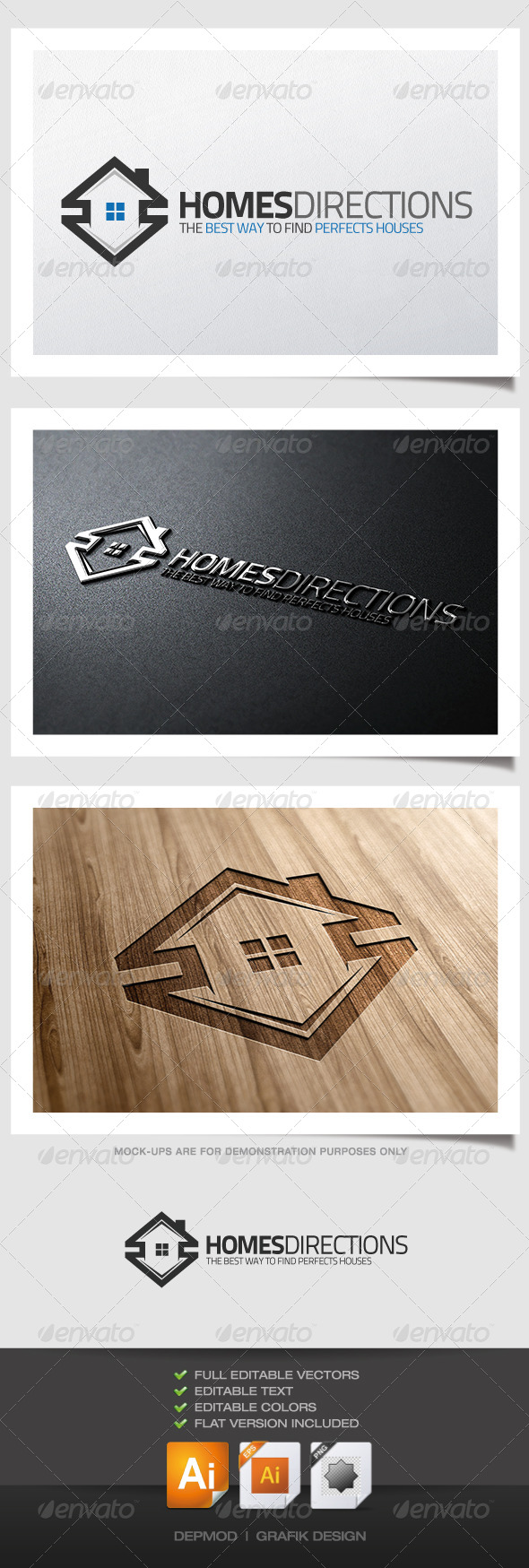GraphicRiver Homes Directions Logo 4628188