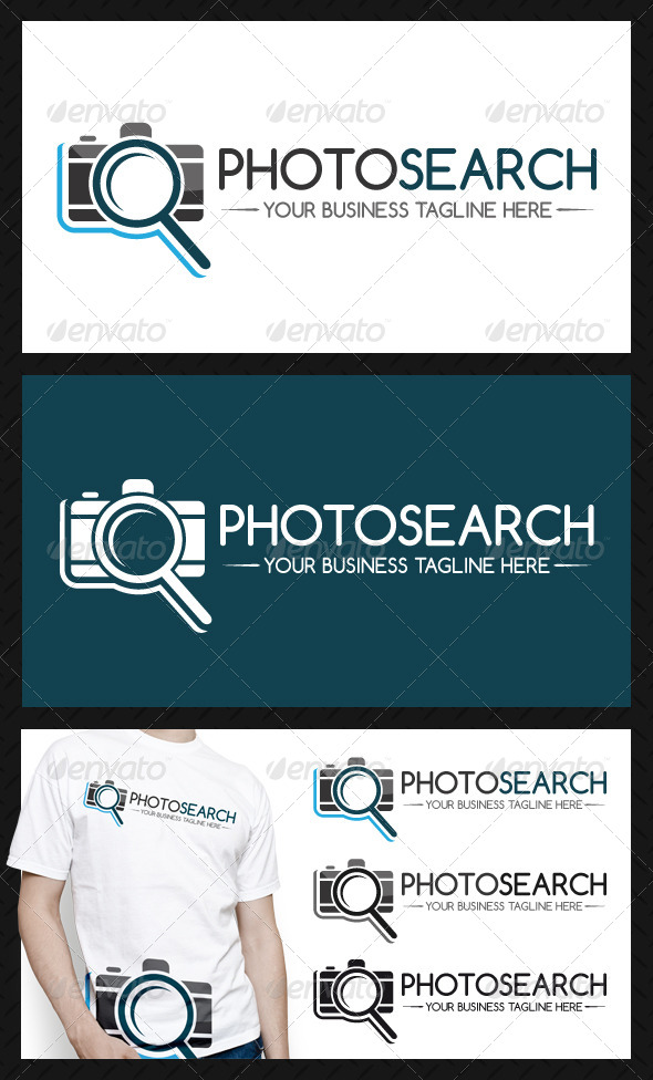 Photo Search Logo Template