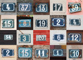 Collage of weathered house numbers on the wall - PhotoDune Item for Sale